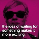 Warten Kunstdrucke von Andy Warhol