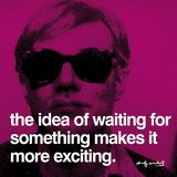 Andy Warhol - Bekleyiş (Waiting) - Art Print