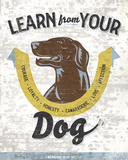 Learn From Your Dog Posters by Luke Stockdale