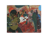 Guitar Magic, c.1986 Prints by Romare Bearden