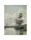 Ships at Le Havre Prints by Eugene Boudin
