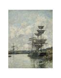 Ships at Le Havre Prints by Eugene Boudin