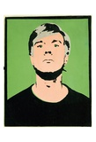 Andy Warhol - Self-Portrait, c.1964 (on green) Plakát