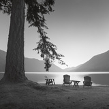 Crescent Lake I Print by Moises Levy
