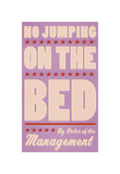 No Jumping on the Bed (pink) Giclee Print by John Golden