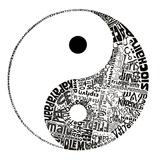 Yin Yang – Orientale Kunst – chinesisch – gepresste Blumen – Gleichgewicht Poster
