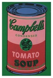 Colored Campbell&#39;s Soup Can, c.1965 (red &amp; green) Affiches par Andy Warhol