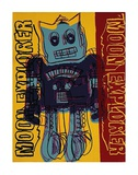 Moon Explorer Robot, c.1983 (blue &amp; yellow) Prints by Andy Warhol
