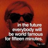 Fünfzehn Minuten Poster von Andy Warhol