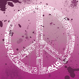 Peace (pink) Posters