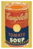 Andy Warhol - Colored Campbell's Soup Can, c.1965 (yellow & blue) Reprodukce