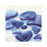 Sea Glass, Cobalt Art by Celia Pearson