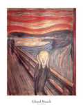 The Scream, c.1893 Art by Edvard Munch