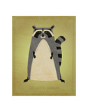 The Artful Raccoon Prints by John Golden