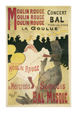 Moulin Rouge, La Goulue Art Print by Henri de Toulouse-Lautrec