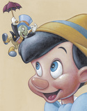 Pinocchio and Jiminy: Friendly Fun Print