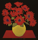 Red Daisies Prints by Beverly Jean