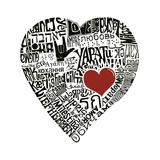 Amor en 44 idiomas Póster por  L.A. Pop Art
