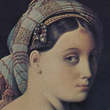 The Grand Odalisque (detail) Poster av Jean-Auguste-Dominique Ingres