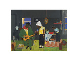 Evening of the Gray Cat, c.1982 Print by Romare Bearden