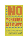 No Monsters Allowed Giclee Print by John Golden