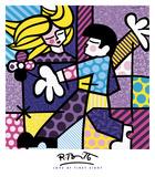 Kärlek vid första ögonkastet Affischer av Romero Britto