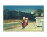 Stacja benzynowa, ok. 1940 Reprodukcje autor Edward Hopper