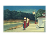 Pompstation, ca.1940 Print van Edward Hopper