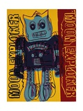 Moon Explorer Robot, c.1983 (blue & yellow) Print by Andy Warhol