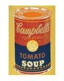 Colored Campbell&#39;s Soup Can, c.1965 (yellow &amp; blue) Art by Andy Warhol