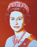 Reigning Queens: Queen Elizabeth II of the United Kingdom, c.1985 (blue face) Affiches par Andy Warhol