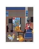 Morning of the Rooster, c.1980 Posters av Romare Bearden