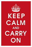Keep Calm (Red) Affiches