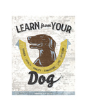 Learn From Your Dog Poster by Luke Stockdale