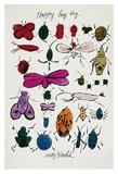 Happy Bug Day, c.1954 Poster van Andy Warhol