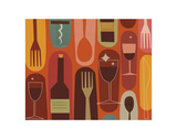 Wine & Dine Print by Jenn Ski