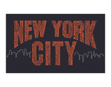 New York City Boroughs (orange on navy) Prints