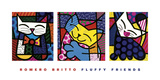 Fluffy Friends Poster por Romero Britto