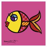 Nadando en rosa Pósters por Romero Britto