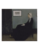 Portrait of the Artist's Mother Art by James Abbott McNeill Whistler