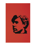 Self-Portrait, c.1967 (Black Andy on Red) Poster by Andy Warhol
