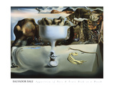 Apparition of Face and Fruit Dish on a Beach Prints by Salvador Dal&#237;