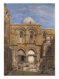 The Church of the Holy Sepulchre, Jerusalem Premium Giclee Print by Carl Friedrich Heinrich Werner