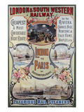 London to Paris Poster, London and South Western Railway Prints