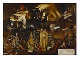 Hieronymus Bosch - Hell Digitálně vytištěná reprodukce