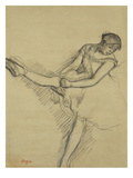 Dancer Seated, Readjusting Her Stocking; Danseuse Assise, Reajustant Son Bas Premium Giclee Print by Edgar Degas