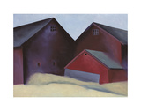 Ends of Barns Poster by Georgia O'Keeffe