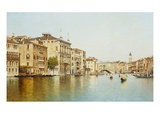 The Grand Canal with the Rialto Bridge, Venice Giclee Print by Rafael Senet