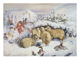 Fairies in the Snow Reproduction procédé giclée par John Anster Fitzgerald