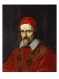 Portrait of Pope Clement Ix , Bust Length Giclee Print by  Roman School